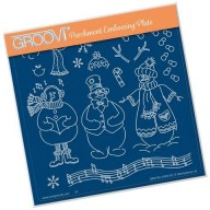 Groovi Plate Linda's Build a Snowman A5
