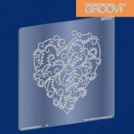 Groovi Plate Hearts Swirl