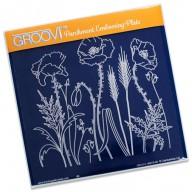 Groovi Plate Poppy Field