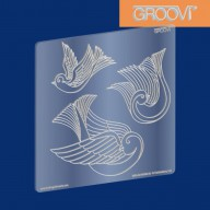 Groovi Plate Three Doves