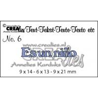 Crealies Tekststans (ES) nr 6  Es un niño 9x14-9x13-9x21mm  / CLES06