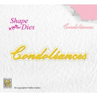 Nellies Choice Shape Die - FR - Condoléances SD094