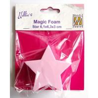 Nellies Choice Mixed Media Magic Foam star shape NMMF007 6,1cmx6,3cm thick 3cm