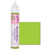 Nellies Choice Mixed media verf satijn limoen  28ml MMAP013