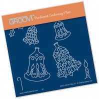 Groovi Plate A6 CHRISTMAS BELL BAUBLES