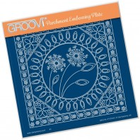 Groovi Plate TINA'S DANDELION & FLORAL FRAMES A5