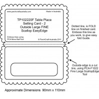 PCA EasyEmbossing Fine Table Place Setting Card 2 TP102220F
